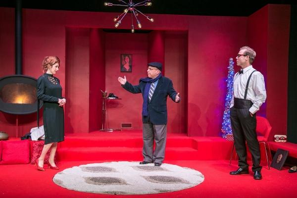 Jenny Schuck, Jeff Rossman as Sidney Redlitch, and James Hipp Photo