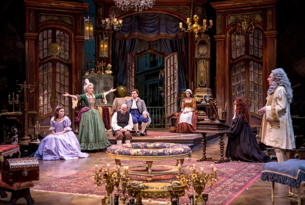 The company of Chicago Shakespeare Theater's THE HEIR APPARENT