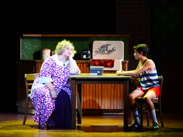 Grandma (portrayed by Elizabeth Dimon, left) and Billy (Nicholas Dantes, right) share a moment. Photo by Alicia Donelan.
