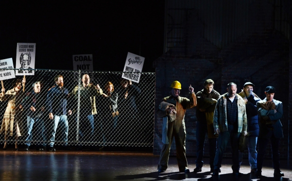 Set against the backdrop of the UK miners'' strike of 1984, protest tension is high in BILLY ELLIOT THE MUSICAL. Photo by Alicia Donelan.