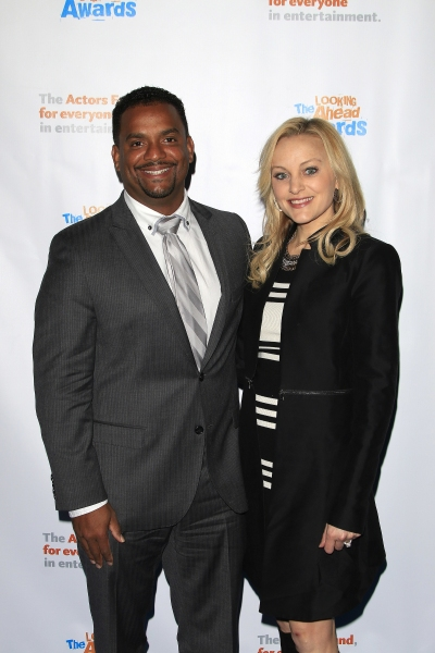 LOS ANGELES - DEC 3: Alfonso Ribeiro, Angela Unkrich at the The Actors Fundï�¿½s Looking Ahead Awards at the Taglyan Complex on December 3, 2014 in Los Angeles, California
