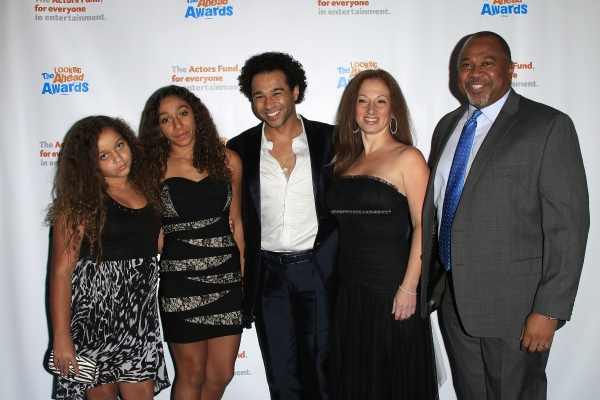 LOS ANGELES - DEC 3: Jag Reivers, Phoenix Reivers, Corbin Bleu, Martha Callari, David Reivers at the The Actors Fund�¿�s Looking Ahead Awards at the Taglyan Complex on December 3, 2014 in Los Angeles, California