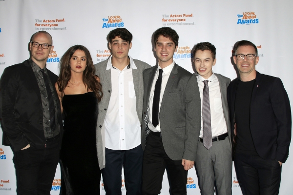 LOS ANGELES - DEC 3: Peter Paige, Maia Mitchell, Noah Centineo, David Lambert, Hayden Byerly, Bradley Bredeweg at the The Actors Fund�¿�s Looking Ahead Awards at the Taglyan Complex on December 3, 2014 in Los Angeles, California