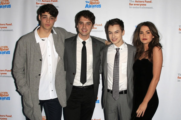 LOS ANGELES - DEC 3: Noah Centineo, David Lambert, Hayden Byerly, Maia Mitchell at the The Actors Fund�¿�s Looking Ahead Awards at the Taglyan Complex on December 3, 2014 in Los Angeles, California