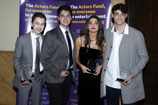 LOS ANGELES - DEC 3: Hayden Byerly, David Lambert, Maia Mitchell, Noah Centineo at the The Actors Fund�¿�s Looking Ahead Awards at the Taglyan Complex on December 3, 2014 in Los Angeles, California