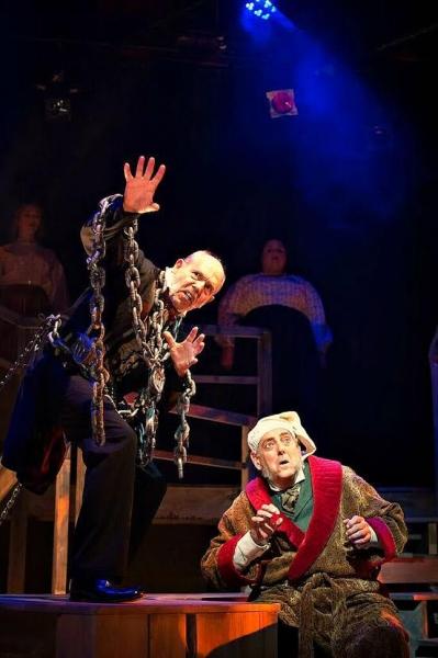 "Emmy Award-winner Joe Spano (""NCIS,"" RTC's Bucky and Sylvia) plays Jacob Marley with fellow Broadway veteran Peter Van Norden (RTC's Copenhagen) as Ebenezer Scrooge"