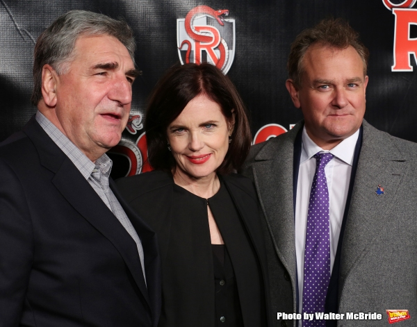 Jim Carter, Elizabeth McGovern and Hugh Bonneville