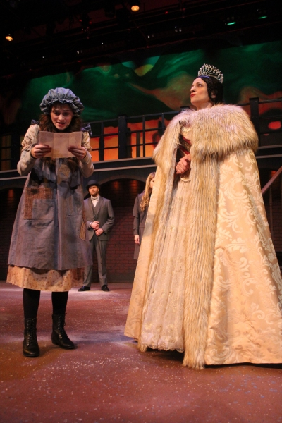 Emerson Steele as Sara and Mary Nye Bennett as Queen Victoria