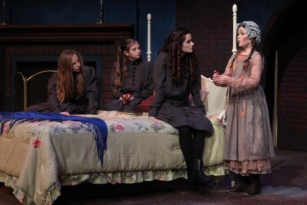 Olivia Windley as Ermengarde, Allison Gann as Lottie, Emerson Steele as Sara and Brenna McConnell as Becky
