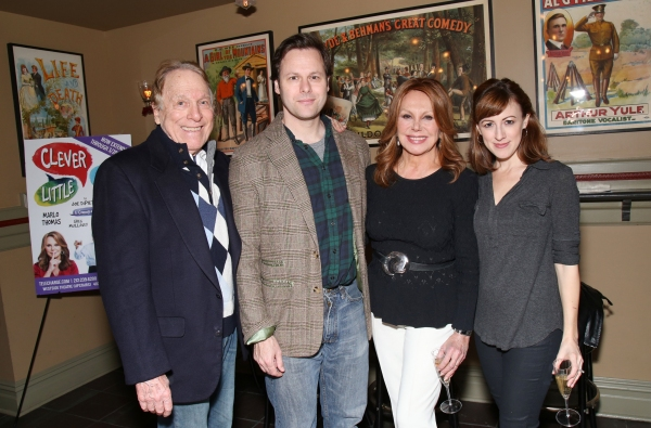 The cast of CLEVER LITTLE LIES: Greg Mullavey, George Merrick, Marlo Thomas and Kate Wetherhead. Photo by Joseph Marzullo.