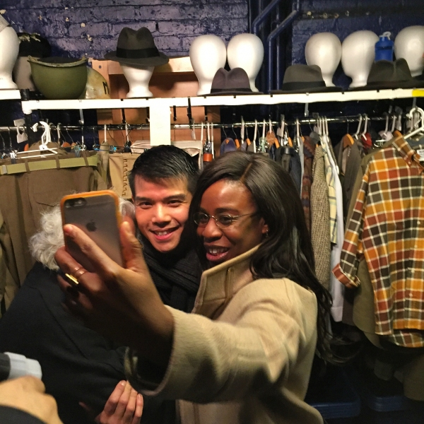 ORANGE IS THE NEW BLACK and THE WIZ LIVE''s Uzo Aduba takes a selfie with Telly Leung