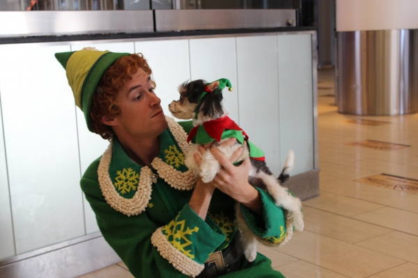 Photo Flash: Tinkerbelle the Dog Celebrates Buddy the Elf's Arrival to Madison Square Garden