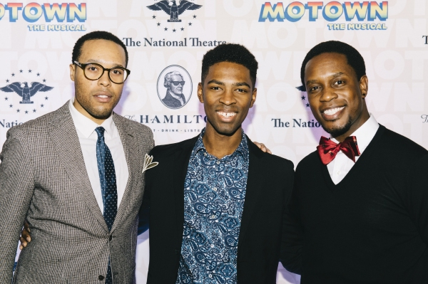 Nicholas Ryan, Galen J. Williams, Rod Harrelson, from the cast of MOTOWN THE MUSICAL Photo
