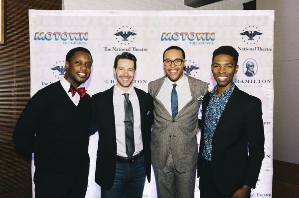 Rod Harrelson, Stephen Cerf, Nicholas Ryan, Galen J. Williams, from the cast of MOTOWN THE MUSICAL