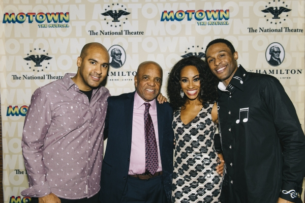 Berry Gordy (second from left) with MOTOWN THE MUSICAL Josh Tower, Allison Semmes, Jarran Muse