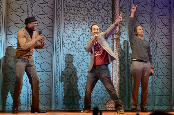 The company of KINKY BOOTS took honors for best onstage presentation for a freestyle rap led by the show''s newest star, Wayne Brady, and surprise guest rappers HAMILTON''s Lin-Manuel Miranda and Christopher Jackson