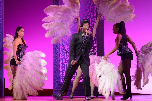 The cast of CHICAGO turned lawyer Billy Flynn''s signature number, ''All I Care About Is Love,'' into a high-energy funk jam featuring James T. Lane as James Brown, the show''s latest celebrity guest star