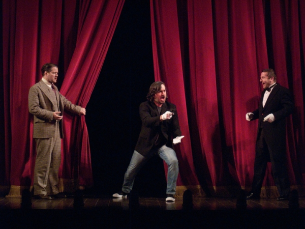 Robert Petkoff, Brian ''Q'' Quinn and Billy Carter during Brian''s celebrity assassin appearance in 39 STEPS