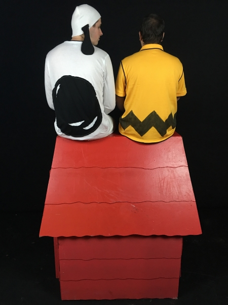 Stefan Kurzius as Snoopy and Steve Peterson as Charlie Brown