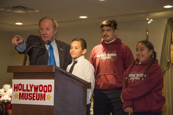 Mr Los Angeles, Tom LaBonge, and Dolores Mission students