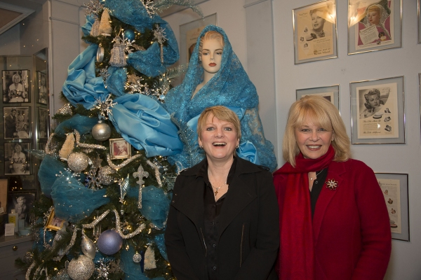 Alison Arngrim and Ilene Graff visit the Blondes room at The Hollywood Museum