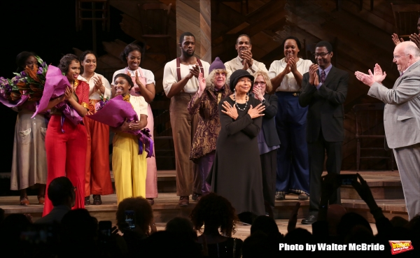 Jennifer Hudson, Cynthia Erivo, Allee Willis, Marsha Norman, Alice Walker, John Doyle with cast