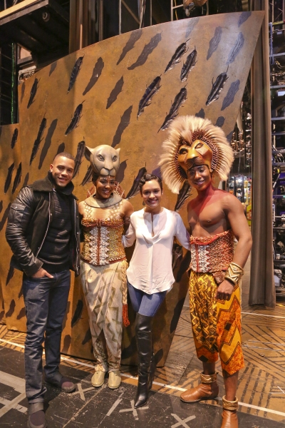 EMPIRE''s Trai Byers and Grace Gealey with THE LION KING''s Nia Holloway and Aaron Ne Photo