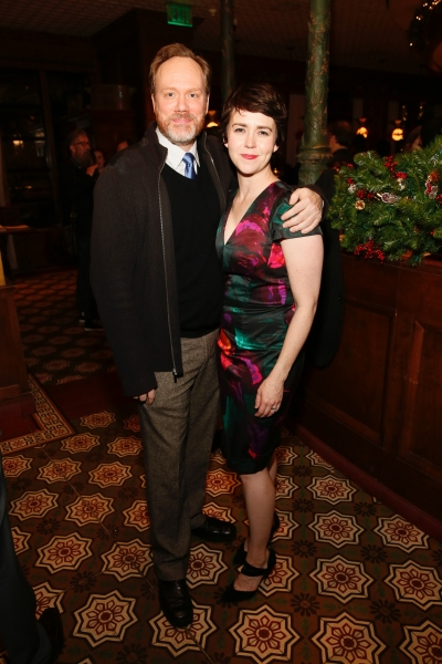 Cast members Andrew Garman and Emily Donahoe