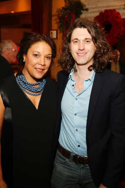 Linda Powell and playwright Lucas Hnath