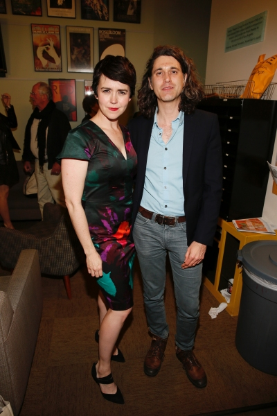 Emily Donahoe and playwright Lucas Hnath