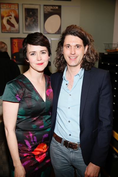 Cast member Emily Donahoe and playwright Lucas Hnath
