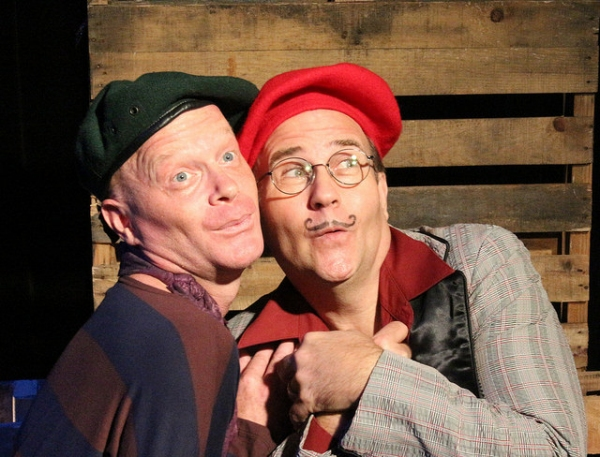 Derrick Phillips (1, as Pierre Chambray) and Ned Averill-Snell (2, as Jacues Burstin) Photo
