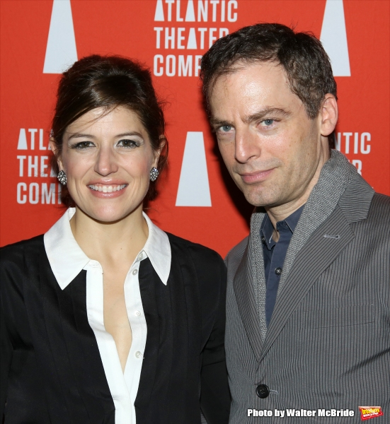 Nicole Parker and Justin Kirk