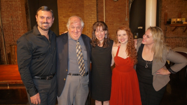 JOHN PASHA, agent BARRY KATZ, BARBRA WENGERD, KRISTIN PARKER, and MEGAN LOHNE at the opening night party for A WILDER CHRISTMAS