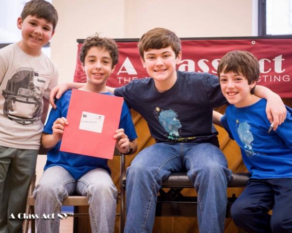 Hayden Bercy with Alex Dreier, Casey Butler and Noah Hinsdale