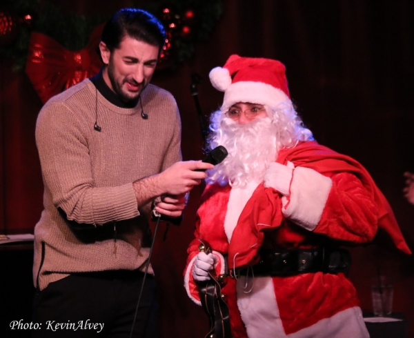 Brandon Rubendall and Santa