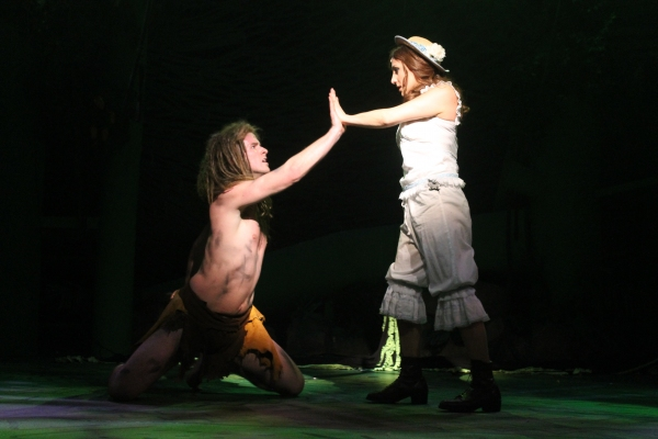 Chris Stevens (Tarzan) and Jenna Dallacco (Jane)