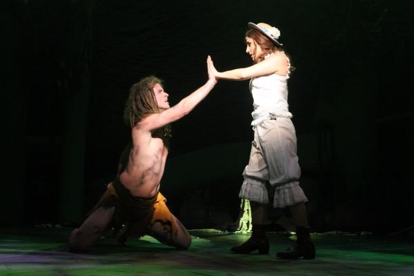Chris Stevens (Tarzan) and Jenna Dallacco (Jane)