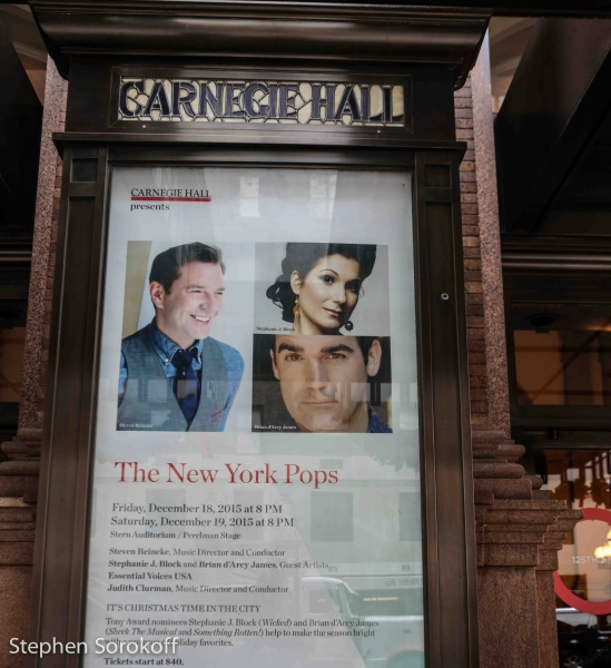 Photo Coverage: Brian d'Arcy James & Stephanie J. Block Rehearse For Tonight's New York Pops Concert