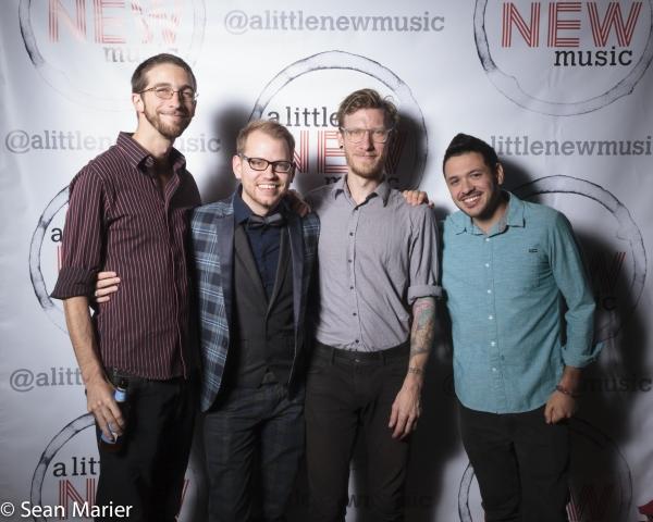 The ALNM band: Brian Cannady (drums), Bryan Blaskie (piano), Eric McCann (bass), Will Photo