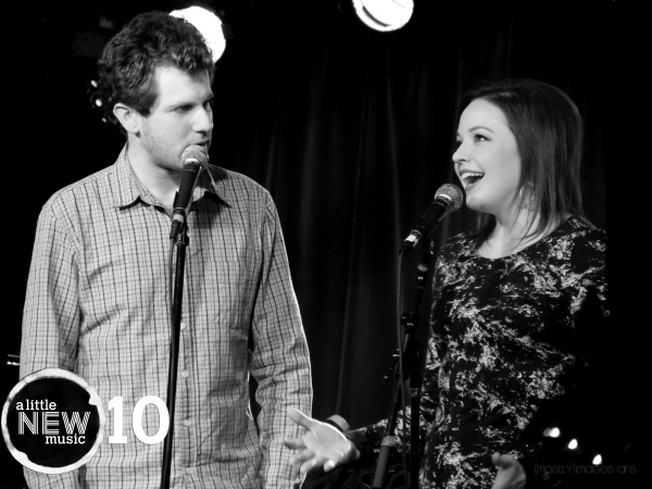 Zach Spound and Shelley Regner duet on Zach''s original song ''Dinosaur''. Photo by a Photo