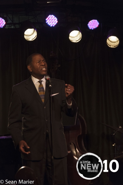 Jimmer Bolden sings a world premiere song, ''Melancholy Moon'' by Mitchell Glaser. Photo by Sean Marier / 389 Photography.