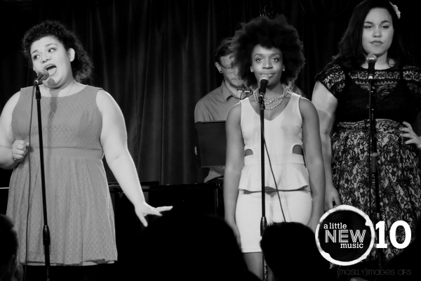 Sherry Mandujano, with back up from Katherine Washington and Katie Porter, sings abou Photo