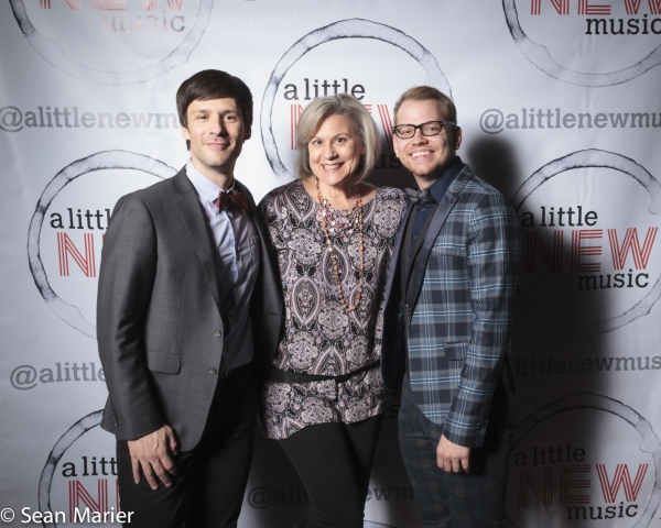 Founding co-producer Christopher Maikish, New Musicals Inc artistic  Elise Dewsberry, and music  Bryan Blaskie. Photo by Sean Marier / 389 Photography.