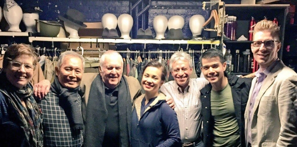 Laura Berquist, George Takei, John Kander, Lea Salonga, Assoc. Conductor Jeff Saver, Telly Leung, Producer Lorenzo Thione
