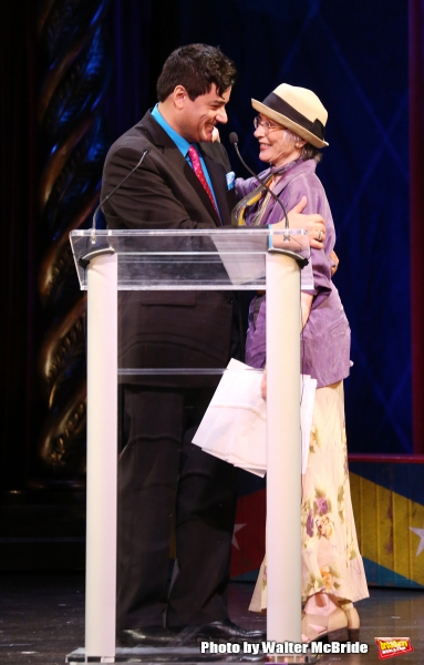 Dale Badway, Patricia Elliott during the 69th Annual Theatre World Awards Presentation at the Music Box Theatre in New York City on June 03, 2013.