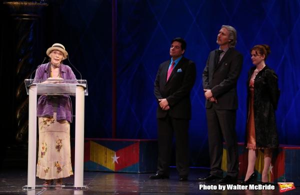 Patricia Elliott, Dale Badway, Corey Brunish, Brisa Trinchero during the 69th Annual Theatre World Awards Presentation at the Music Box Theatre in New York City on June 03, 2013.