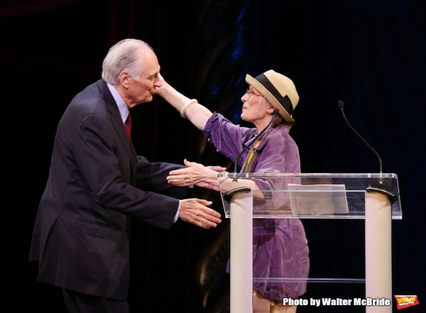 Alan Alda, Patricia Elliott during the 69th Annual Theatre World Awards Presentation at the Music Box Theatre in New York City on June 03, 2013.