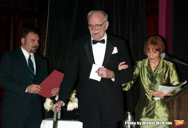 John Willis - editor of Theatre World and Patricia Elliott( Lifetime Achievement ) at Photo