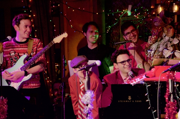 Spectacular band & cast look on. (L to R) Mike Rosengarten, Alyse Alan Louis, Dos Allen, Charlie Rosen & Joe Iconis